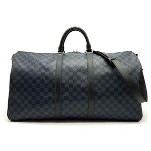 Louis Vuitton Keepall Bandouliere 55 Damier Cobalt